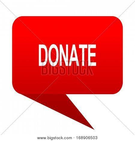 donate bubble red icon