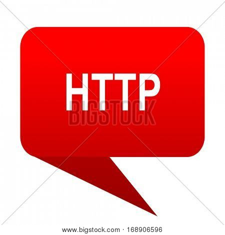 http bubble red icon