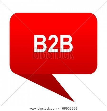 b2b bubble red icon