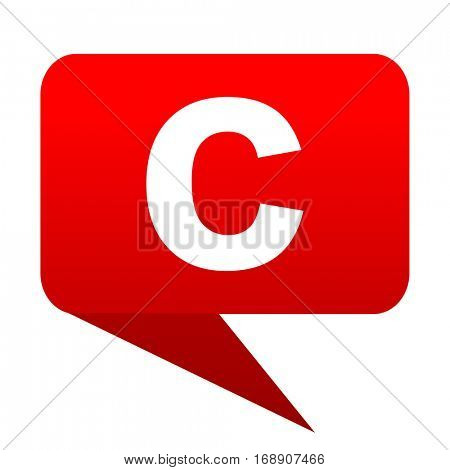 copyright bubble red icon