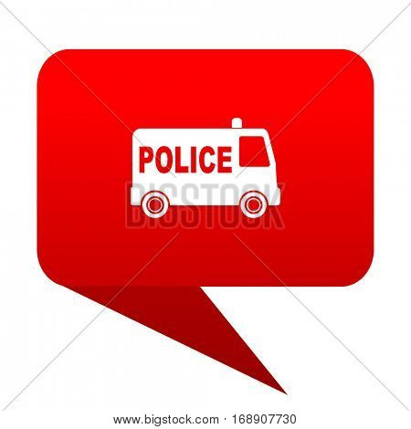 police bubble red icon