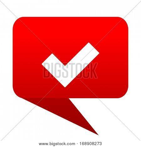 accept bubble red icon