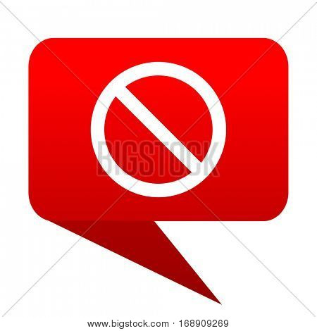 access denied bubble red icon