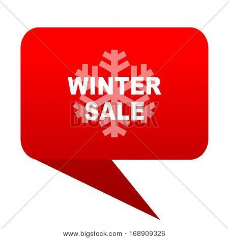 winter sale bubble red icon