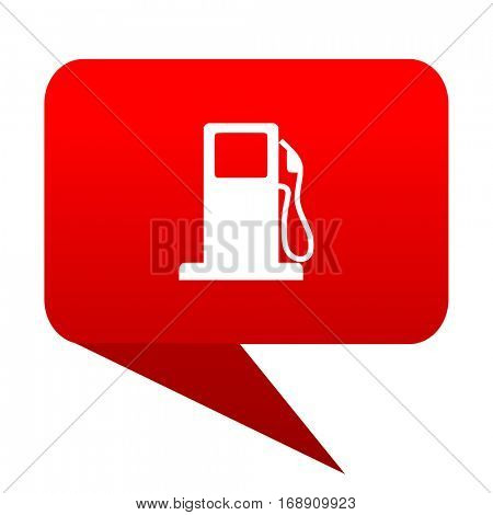 petrol bubble red icon