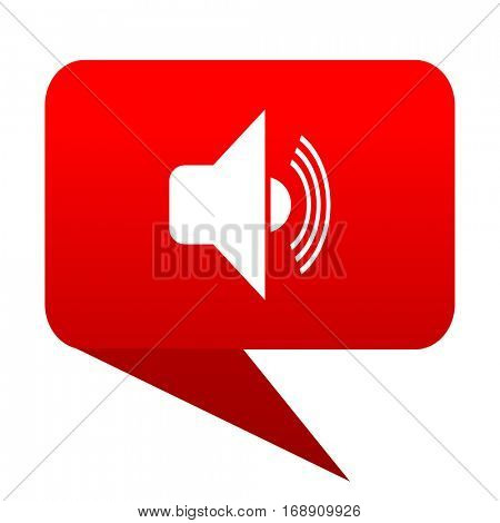 volume bubble red icon