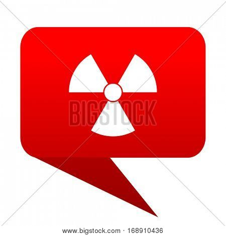 radiation bubble red icon