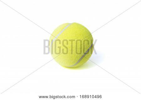 Tennis ball isolates on the white background