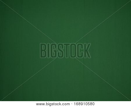 The screen is made of green fabric for background and texture.