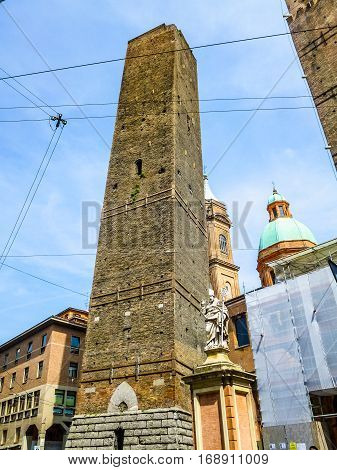 Hdr Medieval Towers In Bologna