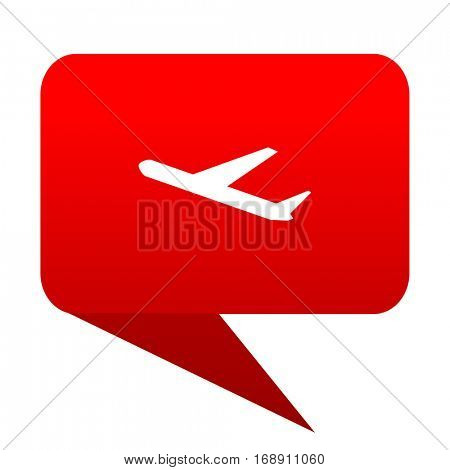 Deparures bubble red icon
