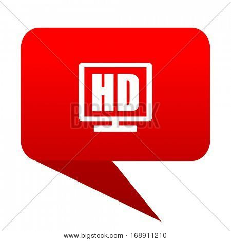 Hd display bubble red icon