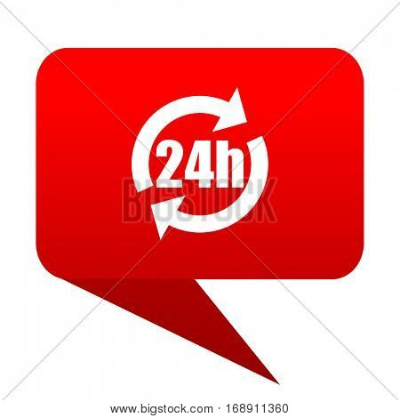 24h bubble red icon