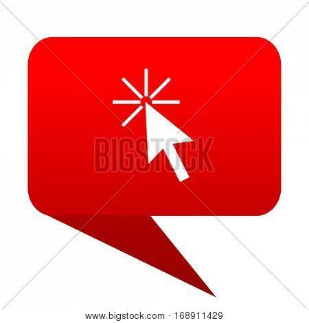 Click here bubble red icon