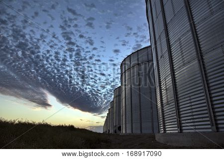 Grain Elevator Saskatchewan blue sky storage Canada