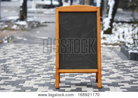 Signboard on the street