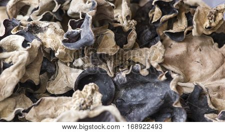 Dried Mushroom At Farmer Market