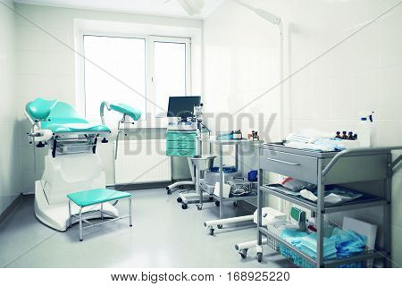 Modern gynecological office interior