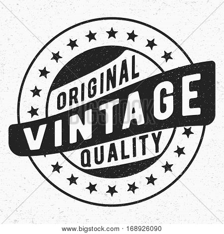 T-shirt print design. Original vintage stamp. Printing and badge applique label t-shirts jeans casual wear. Vector illustration