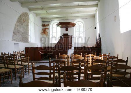 Interior Of Medieval Small Village Church