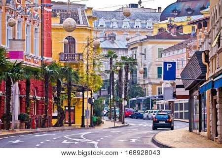 Colorful Mediterranean Street Architecture Of Opatija