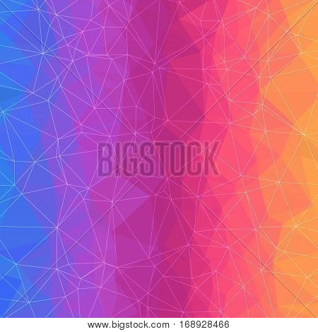 Abstract Geometric Background with Color Triangles Grid. Colorful Triangle Design.