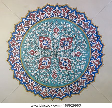 Beautiful Decoration On The Roof Of Topkapi Palace, Istanbul, Turkey.