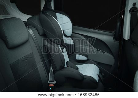 Empty safety seat for baby in car