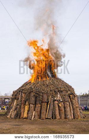 Fire at Italian festival in the town of Nepi in Viterbo.