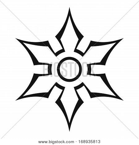 Ninja shuriken star weapon icon. Outline illustration of ninja shuriken star weapon vector icon for web