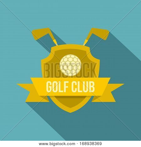 Golf club icon. Flat illustration of golf club vector icon for web   on baby blue background
