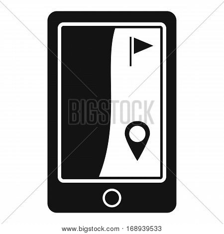 Golf course navigator icon. Simple illustration of golf course navigator vector icon for web
