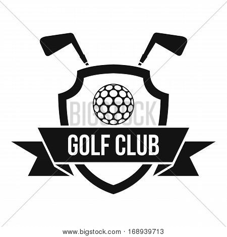 Golf club emblem icon. Simple illustration of golf club emblem vector icon for web
