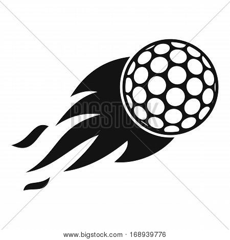 Burning golf ball icon. Simple illustration of burning golf ball vector icon for web