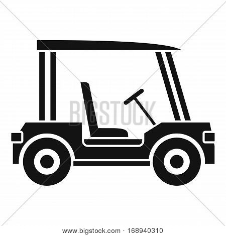 Golf club vehicle icon. Simple illustration of golf club vehicle vector icon for web