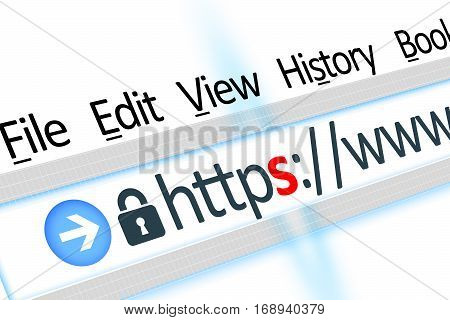 Secured connection web page link  browser detail