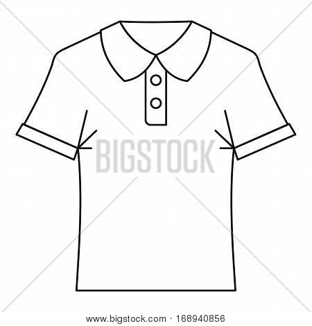 Polo shirt icon. Outline illustration of polo shirtv vector icon for web