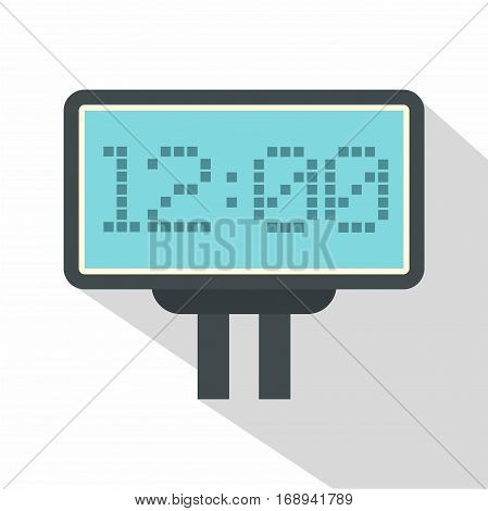 Scoreboard with result display icon. Flat illustration of scoreboard with result display vector icon for web   on white background