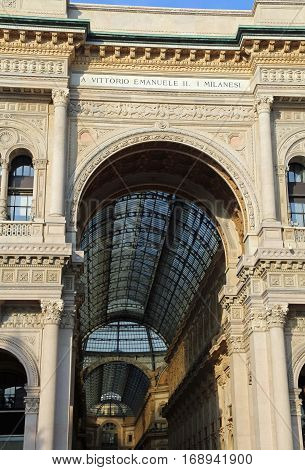 Entrance To The Arcade Dedicated To The King Of Italy Vittorio E