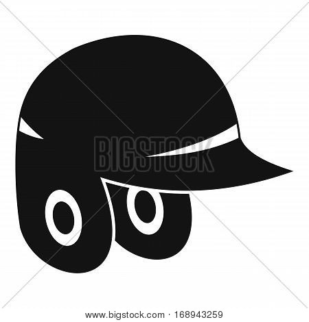 Baseball helmet icon. Simple illustration of baseball helmet vector icon for web
