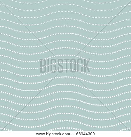 Wavy blue and white vector ornament. Modern background. Geometric pattern with repeating elements