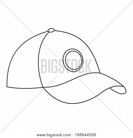Baseball cap icon. Outline illustration of baseball cap vector icon for web