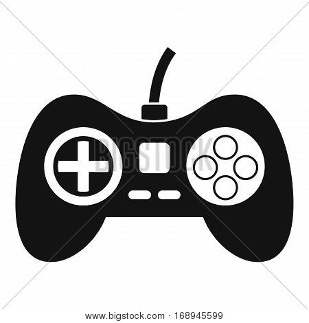 Video game console controller icon. Simple illustration of video game console controller vector icon for web