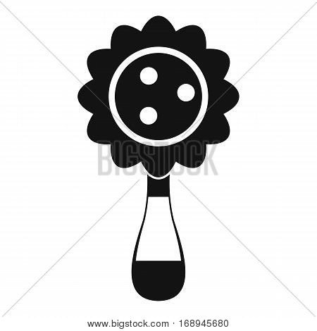 Rattle baby toy icon. Simple illustration of rattle baby toy vector icon for web
