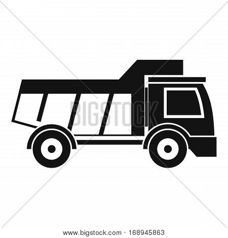 Toy truck icon. Simple illustration of toy truck vector icon for web