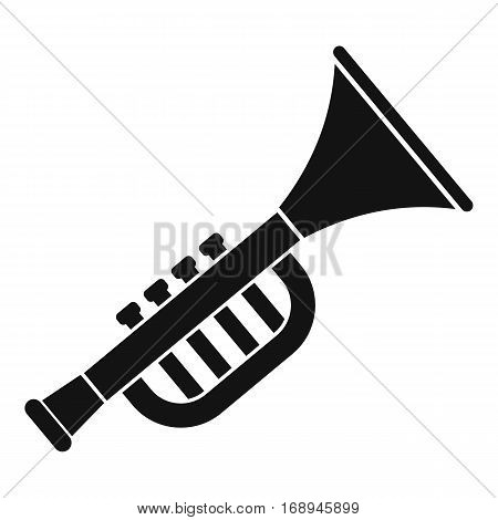 Trumpet toy icon. Simple illustration of trumpet toy vector icon for web