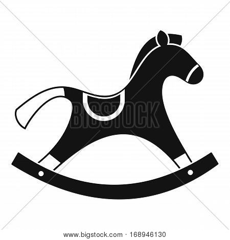 Rocking horse icon. Simple illustration of rocking horse vector icon for web