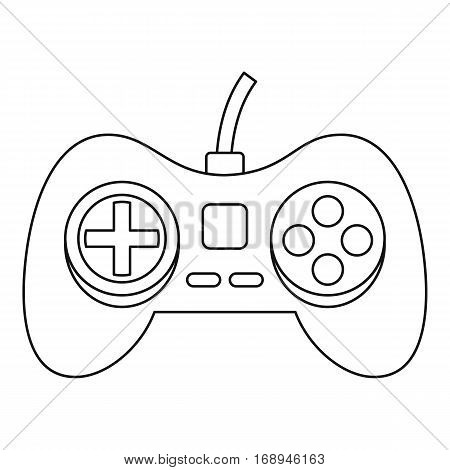 Game pad icon. Outline illustration of game pad vector icon for web