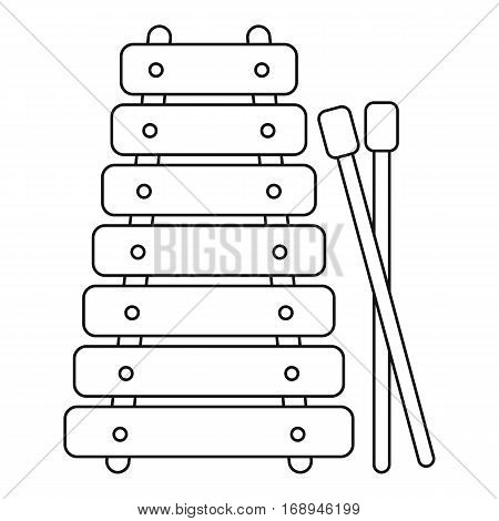 Xylophone toy icon. Outline illustration of xylophone toy vector icon for web