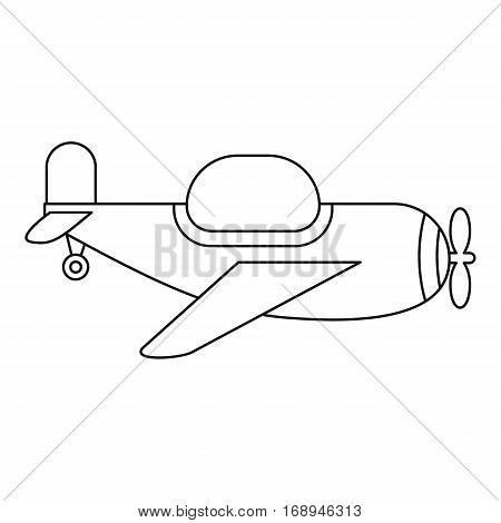 Childrens toy plane icon. Outline illustration of childrens toy plane vector icon for web